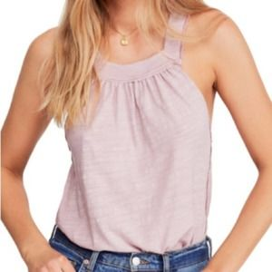 NWT Free People Good for You Square-Neck Pink Tank